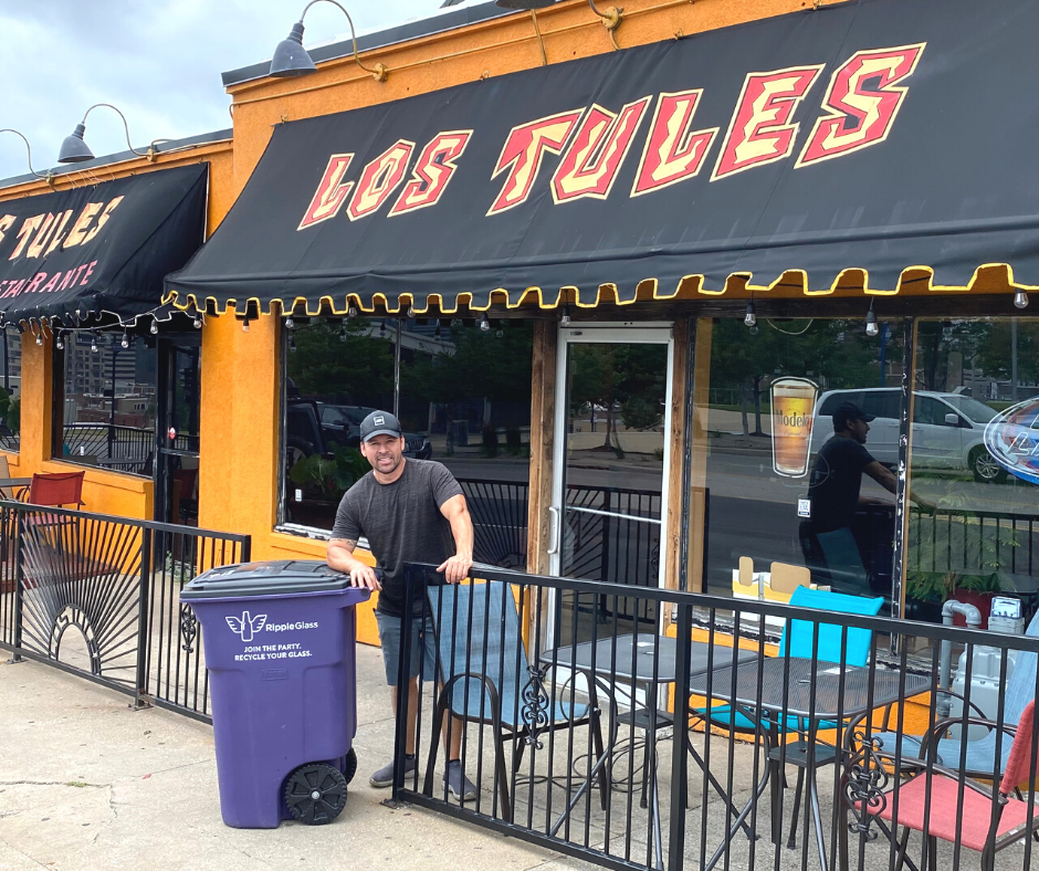 los tules ripple glass commercial glass recycling program